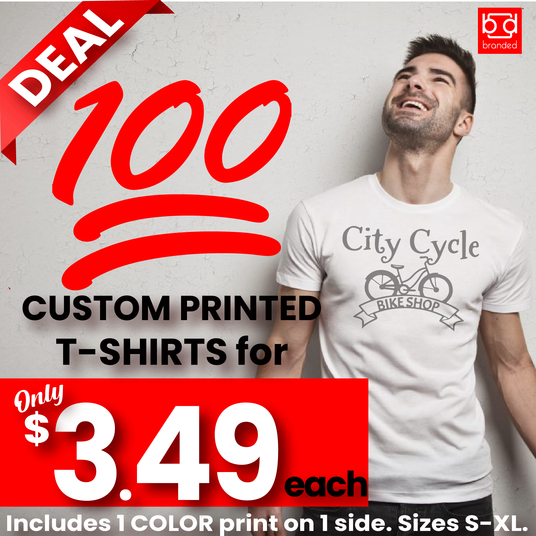 100 T-shirts for $349 from Branded-01