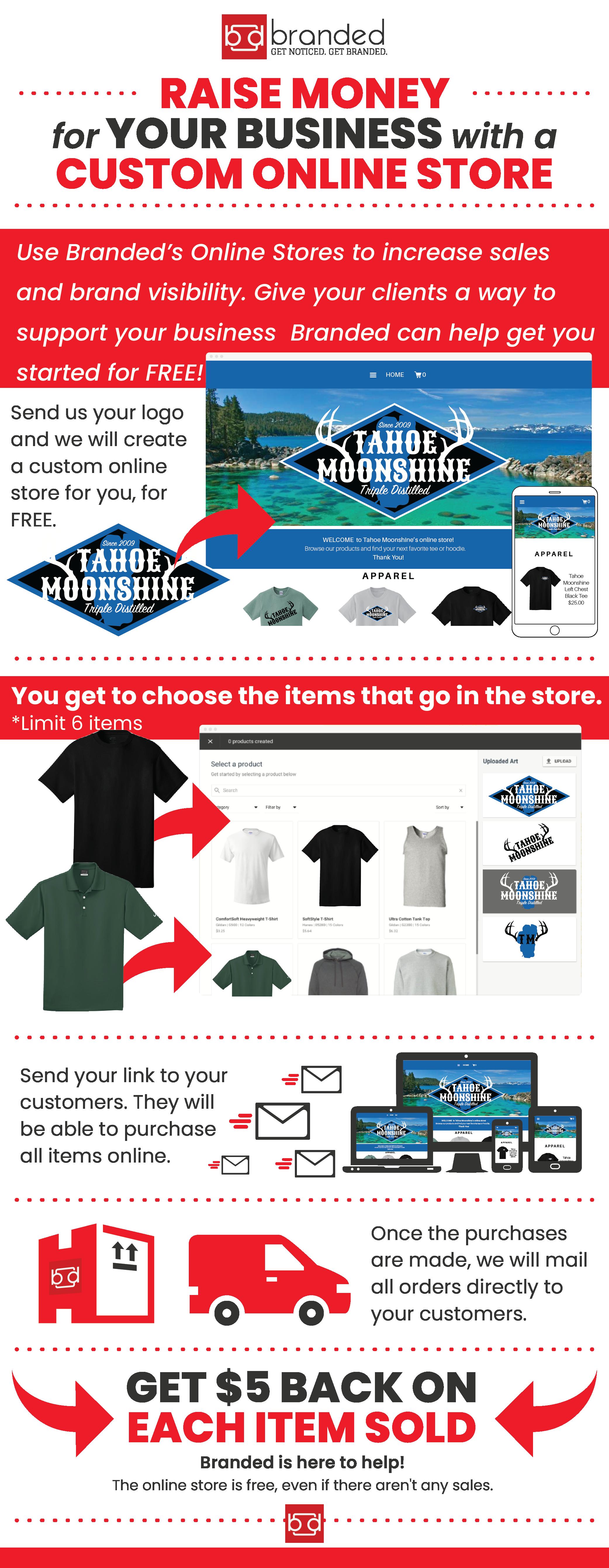 Branded Online Store Details Custom T Shirt Printing